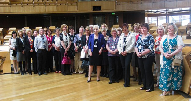 SMSDN members at the Scottish Parliament